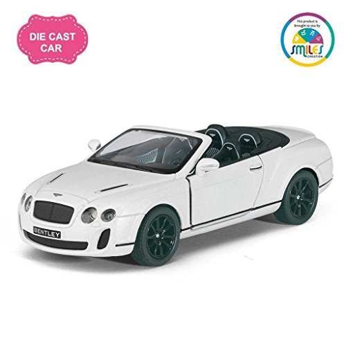 Kinsmart 5'' 1:38 Scale Die Cast Metal 2010 Bentley Continental Supersports Car with Glossy Finishing Exteriors Toys for Kids from Smiles Creation (Multicolour)  available at amazon for Rs.399