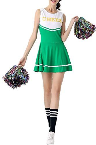 Süßes Paar Halloween Outfit Ideen - Cheerleader-Kostüm für Damen von Fadirew, Outfit