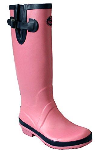 Wetlands Womens Ladies Adjustable Calf Snow Rain Mud Festival Waterproof Wellington Boots Wellies Sizes UK 5-8