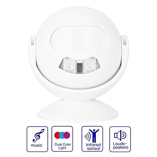 23R Infrarot Sensor Alarm Tür Eintrag Willkommen Gruß Türklingel Bewegungsmelder Roboter Form Alarm Glockenspiel für Zuhause/Fabriken/Büro Alarm Glockenspiel