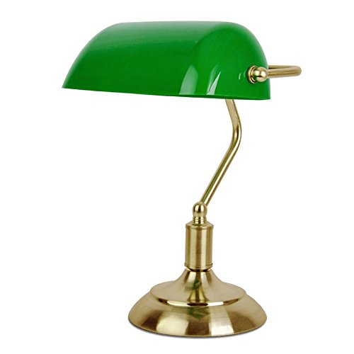 MiniSun - Traditional Antique Brass Banker's Desk Reading Table Lamp