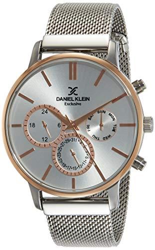 Daniel Klein Analog Silver Dial Men's Watch-DK11857-5