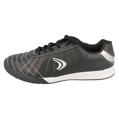 Clarks de Sport pour garçon Motif de temps Sc Swerve-Revêtement cuir-Combi-Noir Noir - noir
