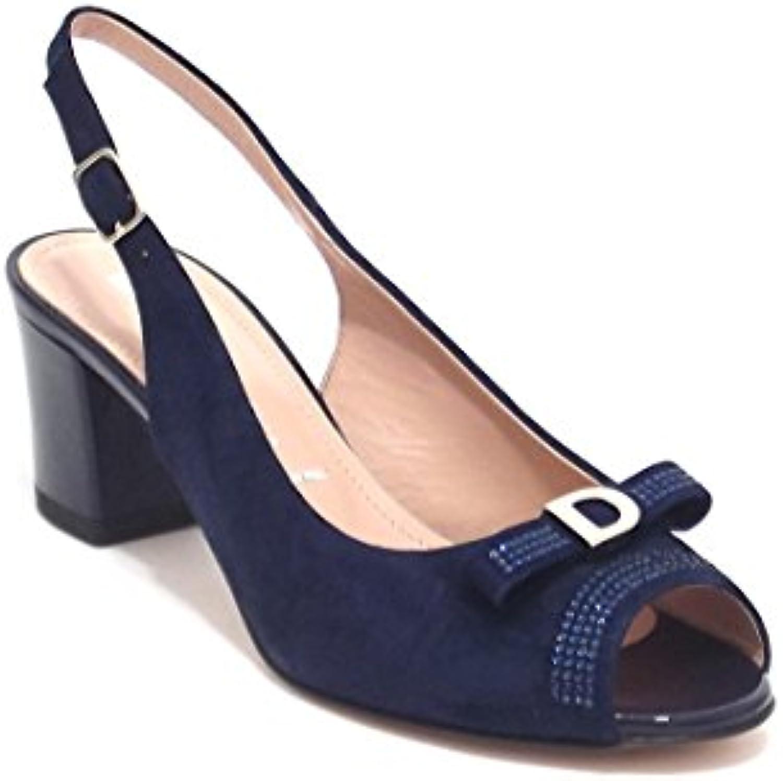 Donna Serena scarpe donna, modello 5991, sandalo in camoscio, Coloreeee blu | Chiama prima  | Gentiluomo/Signora Scarpa