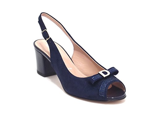 Donna Serena scarpe donna, modello 5991, sandalo in camoscio, colore blu