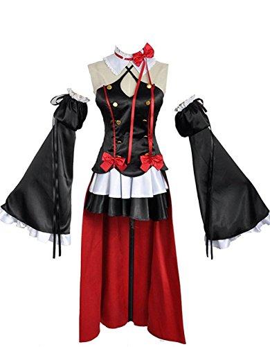 Kostüm Cosplay Krul Tepes - Seraph der Ende Krul Tepes Kleid Cosplay Kostüm Custom Made, Collegejacke, Schwarz