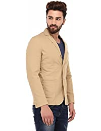 Sting Beige Solid Casual Blazers