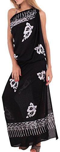 La Leela Bathing Suit Swimsuit Swimwear Bikini Skirt Soft Coverup Rayon Hibiscus Wrap Sarong Ladies 78X43Inch