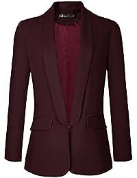 f994e0a149788 Urban GoCo Femme Veste De Tailleur Courte Casual Slim OL Blazer Blouson  Costume d affaires