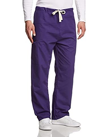 Unisex Premium Quality 5-Pocket Scrub Sets In Purple Size L The Very Best Money Can Buy by by PRESTIGE MEDICAL USA