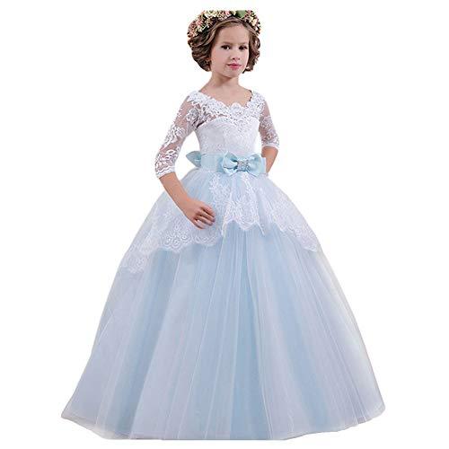LZH Abiti da Cerimonia Nuziale di Ballo di Comunione di Promenade della Principessa della Festa Nuziale del Ricamo del Vestito da Spettacolo delle Ragazze …