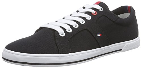 Tommy Hilfiger Harry 9D, Herren Sneakers, Schwarz (Black_990), 44 EU