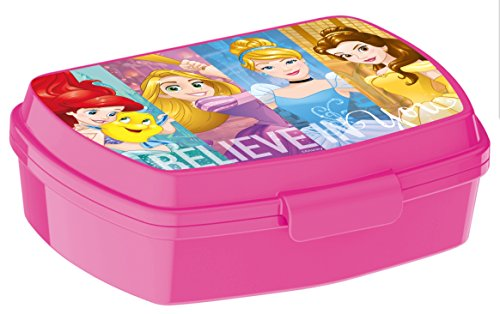 ALMACENESADAN 0416, Sandwich Maker Rechteck Multicolor Disney Princesas Abenteuer, 15x10x5,5 cm