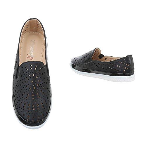 Pantofola Slitta Ital-design Pantofola Pantofola Traforata Nera J269a