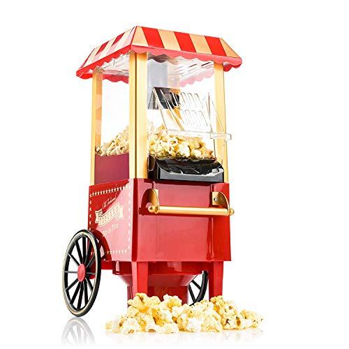 Image of Gadgy Popcorn Maschine | Retro Popcorn Maker | Heissluft Ohne Fett Fettfrei Ölfrei