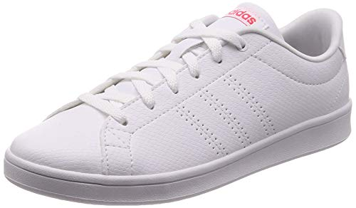 adidas Advantage Clean Qt Scarpe da Tennis Donna, Bianco (Ftwr White/Ftwr  White/Shock Red Ftwr White/Ftwr White/Shock Red), 38 2/3 EU (5.5 UK)