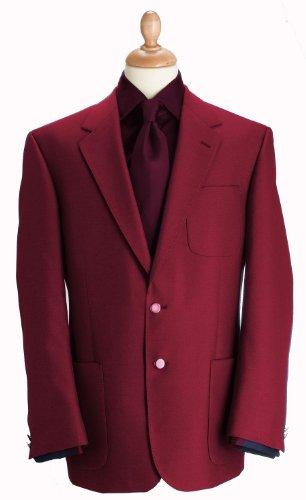 Brook Taverner - Blazer -  Homme Rouge - Bordeaux
