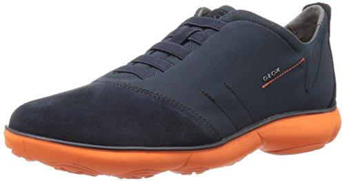 Geox u nebula f, scarpe da ginnastica basse uomo, blu (navy/orangec0820), 40 eu