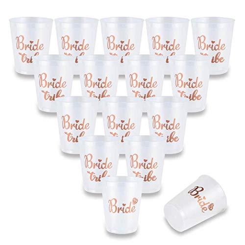 helorette Party Bride Tribe Cups, Rose Gold Bridal Dusche Tassen w/2 Braut Cups Perfekt für Verlobungsfeier, Bridal Shower, Junggesellenabschied, Henna Party Tassen (16Oz, 450ml) ()