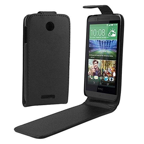 PAN-Cases Vertical Flip Magnetic Button PU Ledertasche für HTC Desire 510
