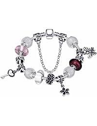 Bracelet charms breloque Toogle T - Plaqué argent sterling 925 00 - Bijou  fantaisie haut f0ba36798e59