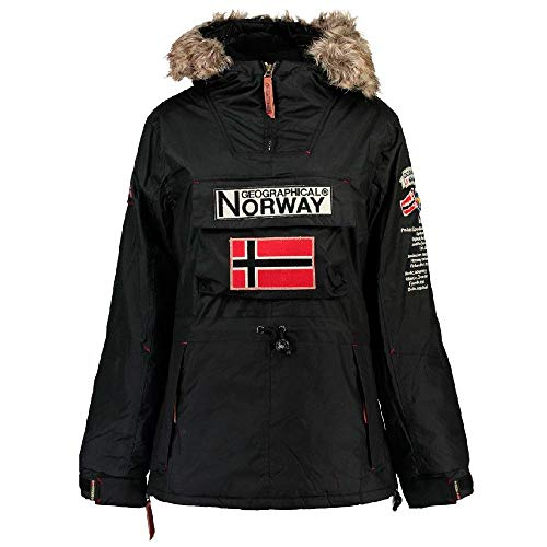 Geographical Anorack Norway Negro Bomber l Mujer 0z0qwarf