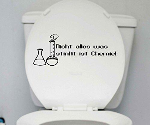 WC Deckel Aufkleber 25x10cm Chemie Bad Toiletten Tattoo Badezimmer Sticker 1K259