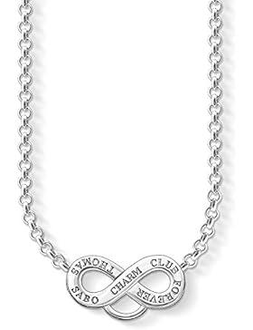 Thomas Sabo Damen-Charm-Kette Charm Club 925 Sterling Silber Länge von 38 bis 44 cm X0206-001-12-L42v