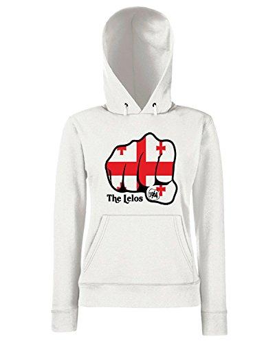 T-Shirtshock - Sweats a capuche Femme TSTEM0039 georgia fist 1964 logo Blanc