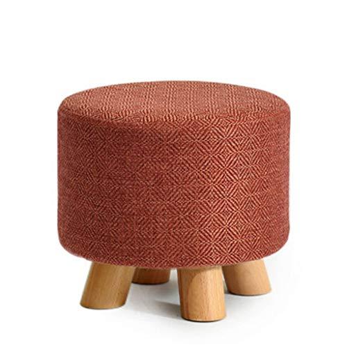 wooden stool Tabouret en bois massif Tabouret de canapé Tabouret bas Accueil Table basse Tabouret Changement Banc de chaussures Petit banc (gris clair) (Couleur : #5)