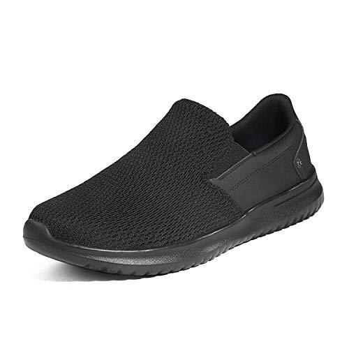 Dream Pairs Walk-Work-02 Zapatillas Sin Cordones Moda para Hombre Negro 41 EU/8 US