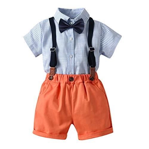 Baby Set Sommer Kleinkind Herren Anzüge Kurzarm Shirt Hosenträger Shorts Outfit Set