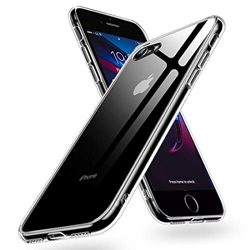 Humixx Hochwertigem 9H Gehärtetem Glas Rückseite mit TPU Rahmen iPhone 7 / iPhone 8 Schutzhülle, Klar