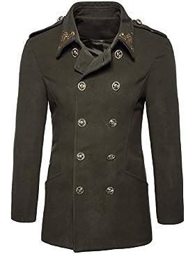 Hombres Otoño Invierno Doble fila Botón de suéter Coat Blusa