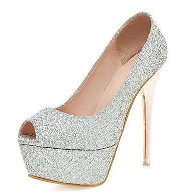 LvYuan Sandalen-Hochzeit Kleid Party & Festivität-maßgeschneiderte Werkstoffe Glanz-Stöckelabsatz-Club-Schuhe-Rosa Rot Silber Gold Gold