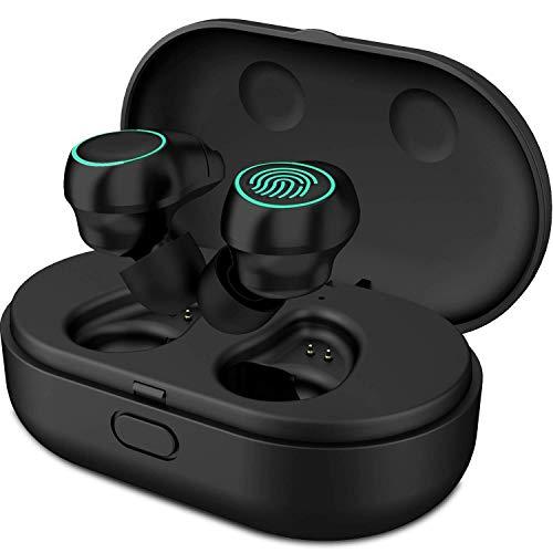 Bluetooth Kopfhörer V5.0 HolyHigh kopfhörer kabellos in Ear Headset Stereo-Minikopfhörer Sport IPX6 Wasserdicht mit Ladekästchen und Integriertem Mikrofon für iPhone Android Samsung iPad Huawei HTC Htc-stereo