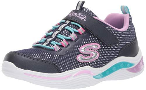 Skechers Mädchen Power Petals Sneaker Größe 30 EU Blau (blau)