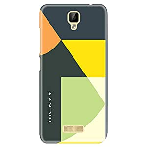 RICKYY Shapes design printed matte finish back case cover for Gionee P7