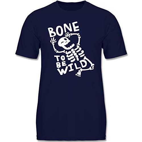 Anlässe Kinder - Bone to me Wild Halloween Kostüm - 122-128 (7-8 Jahre) - Navy Blau - F140K - Jungen ()