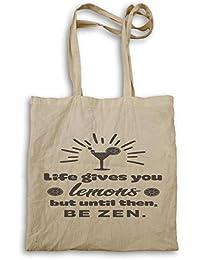 La Vida Te Da Limones, Pero Hasta Entonces, Ser Negro Zen bolso de mano n167r