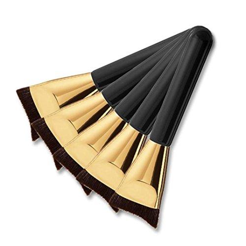 Ouneed® pinceaux de maquillage en poudre anticernes B fond de teint liquide luxuriante pinceau de maquillage (noir, 13.5cm)