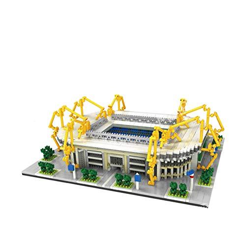 Deutscher Liga-Riese Dortmund Iduna Signal Park Stadion 3D-Puzzle-Modell, Kleiner Korn Diamant Super Large Mini Montiert Kinderspielzeug Erwachsene Bausteine (3d-puzzles Echte)