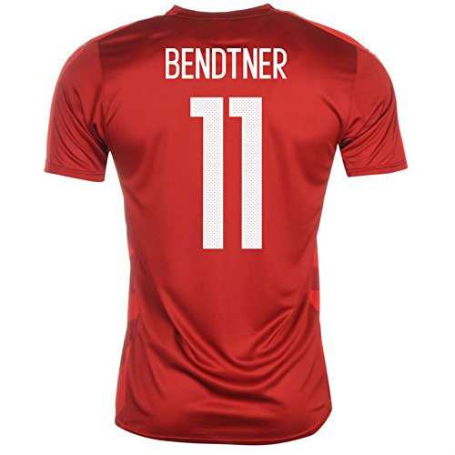 2016-2017 Denmark Home Football Soccer T-Shirt Camiseta (Nicklas Bendtner 11) - Kids