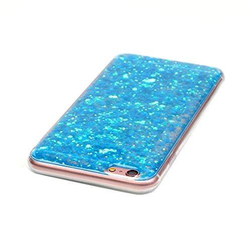BING Für iPhone 6 / 6s, Glitter Powder Soft TPU Schutzhülle BING ( Color : Red ) Blue