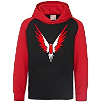 DolphinDiver Red/White Maverick Logan Paul Red & Black Contrast Baseball Hoodie Logang Kids & Adults Sizes