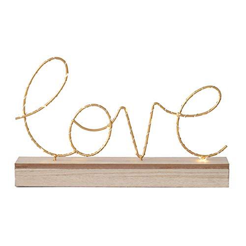 Lampe LED en bois pour panneau de lettres, style vintage, lampe de table décorative, pile AA, base en bois, lampe de table pour filles, mariage, anniversaire, fête de Noël