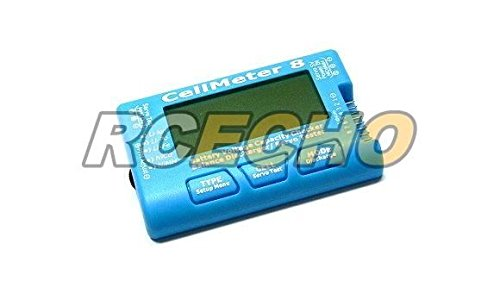 RCECHO® RC CellMeter 8 Battery Voltage Capacity Checker LiPo LiFe Li-ion NiMH Nicd BK202 with RCECHO® Full Version Apps Edition