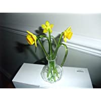 Glass flowers gift in a vase Daffodils
