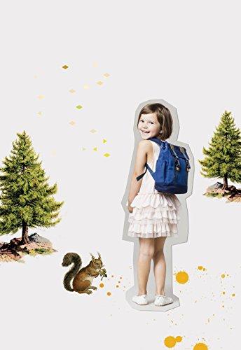 Lässig Vintage Little One und Me Backpack, klein Kinderrucksack Kindergartentasche, blue