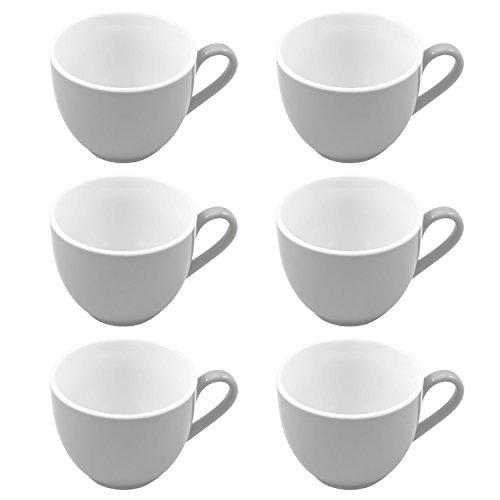 flirt by R&B Espresso-Obere / Espressotasse \'Doppio\', 80 ml, Ø 6 x 5 cm, grau (6er Pack)